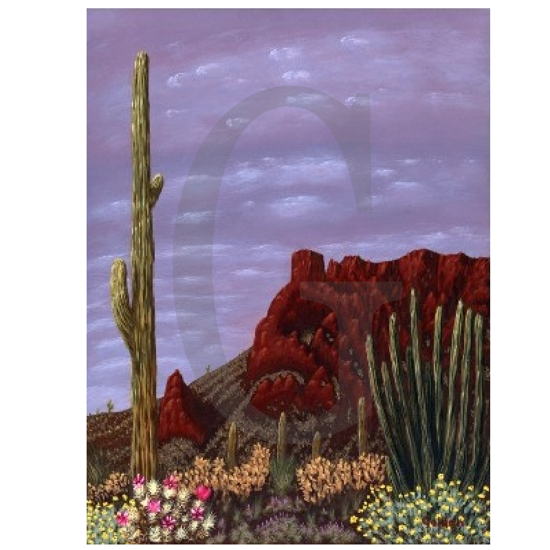 William Lee Golden Painting - Arizona Springtime