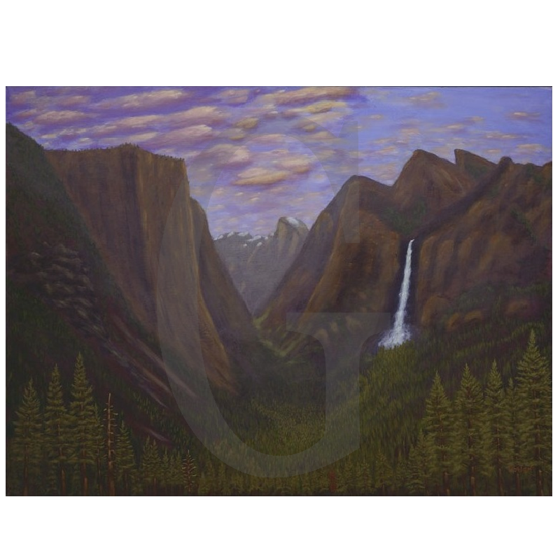 William Lee Golden Painting- Yosemite Valley