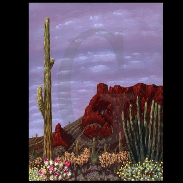 William Lee Golden Painting - Arizona Springtime