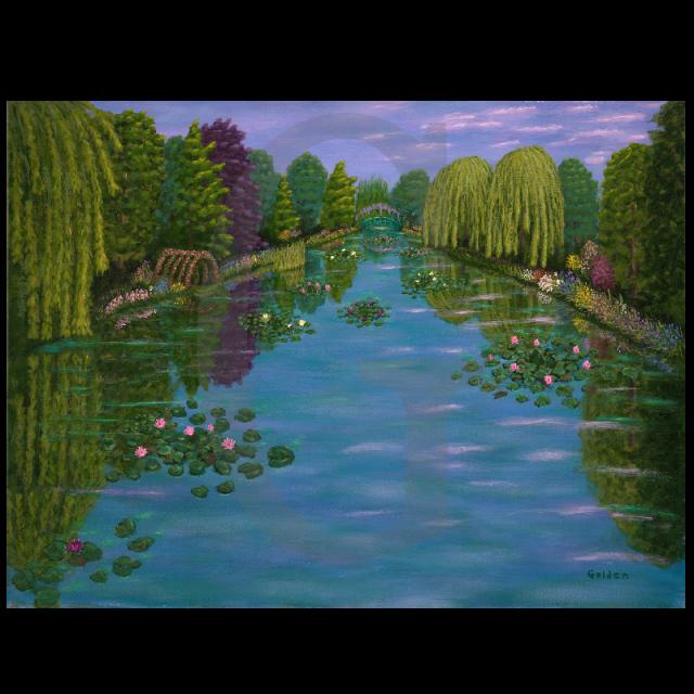 William Lee Golden Painting- Monet's Garden
