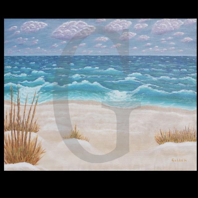 William Lee Golden Painting-  Navarre Beach