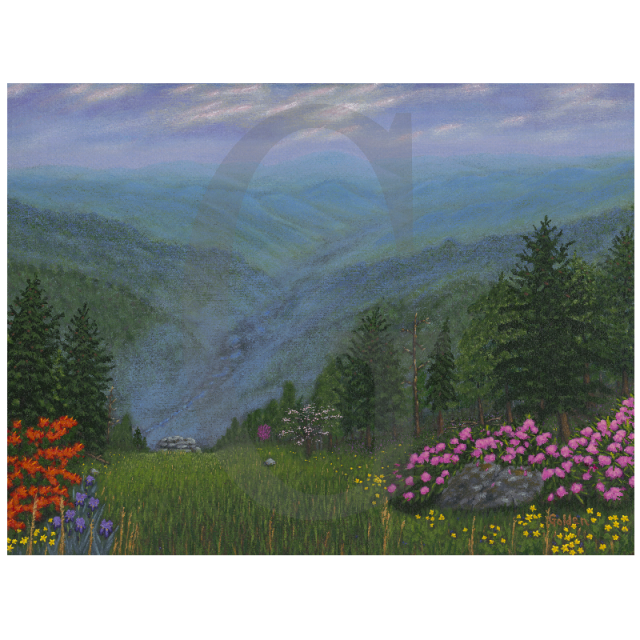 William Lee Golden Painting-  Smoky Mountain Spring