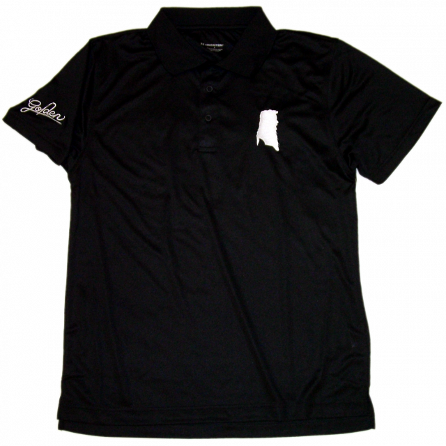 William Lee Golden Black Golf Shirt