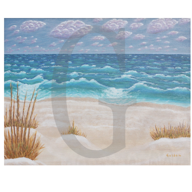 William Lee Golden Painting-  Navarre Beach